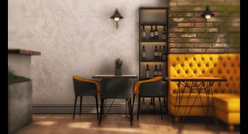 """Interior design of """"MOSS"""" cafe"""